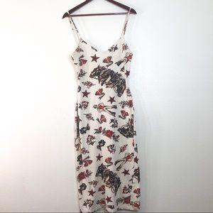 Vintage Betsey Johnson Tattoo Dress